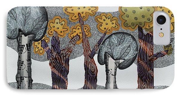 Autumnal Grove  IPhone Case by Graciela Bello