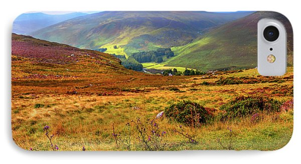 IPhone Case featuring the photograph Autumnal Hills. Wicklow. Ireland by Jenny Rainbow