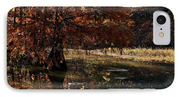 IPhone Case featuring the photograph Autumnal Solace At Lake Murray by Tamyra Ayles