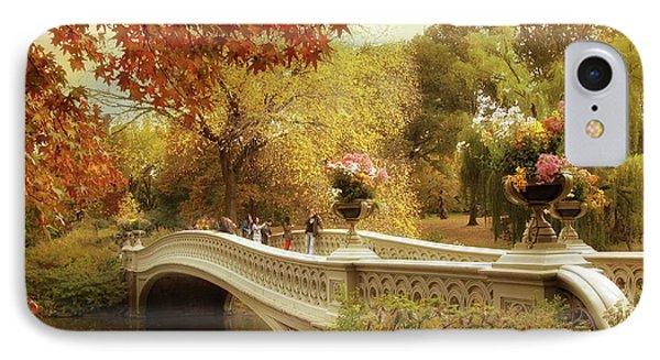 Autumn's Arrival At Bow Bridge IPhone Case