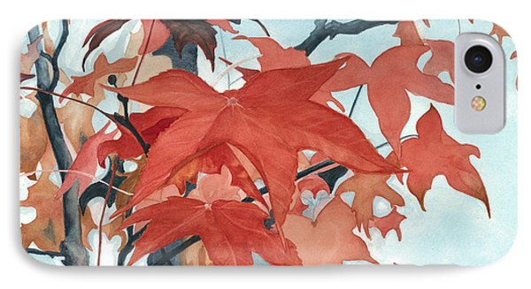 IPhone Case featuring the painting Autumn's Artistry by Barbara Jewell