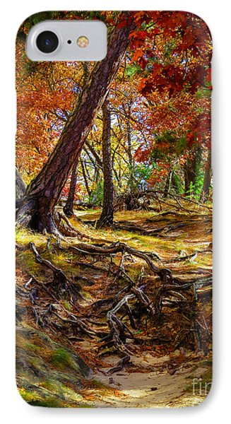 Autumn's Tangled Root Path IPhone Case by Stephanie Forrer-Harbridge