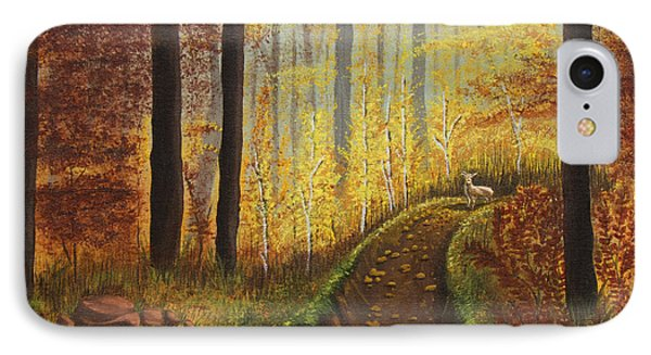 Autumn's Wooded Riverbed Phone Case by Christie Nicklay