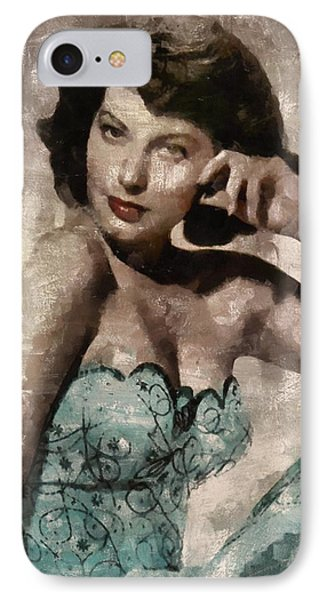 Ava Gardner Hollywood Actress IPhone Case by Mary Bassett