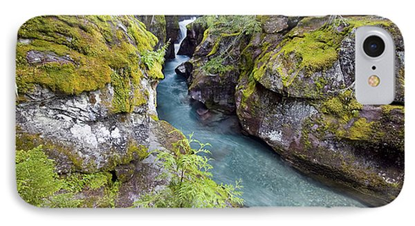 Avalanche Gorge In Glacier National Park IPhone Case
