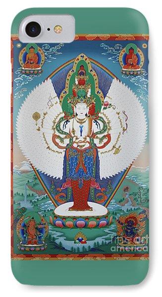 Avalokiteshvara Lord Of Compassion Phone Case by Sergey Noskov