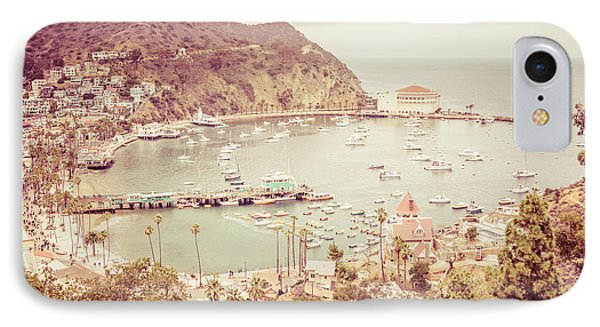Avalon California Catalina Island Retro Photo IPhone Case by Paul Velgos