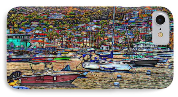 Avalon Harbor Sunset IPhone Case by Norma Warden