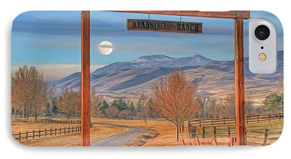 Avansino Ranch IPhone Case by Donna Kennedy