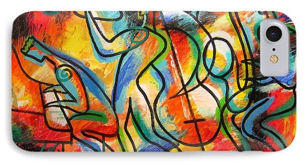 Avant-garde Jazz IPhone Case by Leon Zernitsky