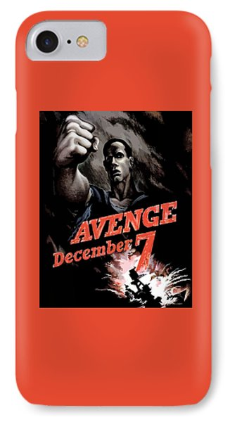 Avenge December 7th Phone Case by War Is Hell Store