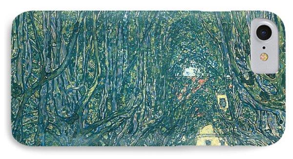Avenue In The Park Of Schloss Kammer IPhone Case by Gustav Klimt