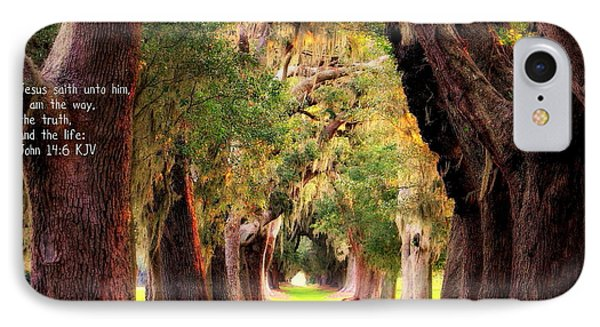 Avenue Of Oaks 2 I Am The Way IPhone Case by Reid Callaway