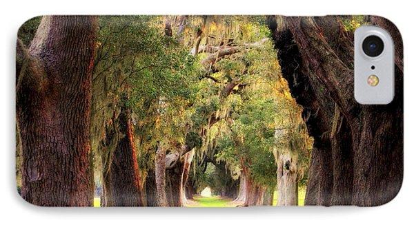 Avenue Of Oaks Sea Island Golf Club St Simons Island Georgia Art IPhone Case by Reid Callaway