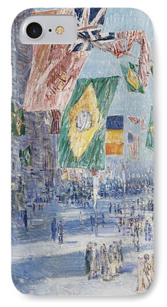 Avenue Of The Allies  Brazil  Belgium IPhone Case by Childe Hassam