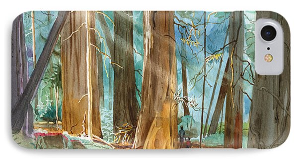 Avenue Of The Giants IPhone Case by John Norman Stewart