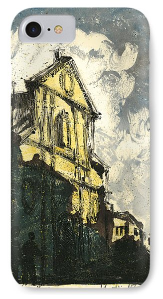 IPhone Case featuring the painting Avignon Provence Street View by Martin Stankewitz