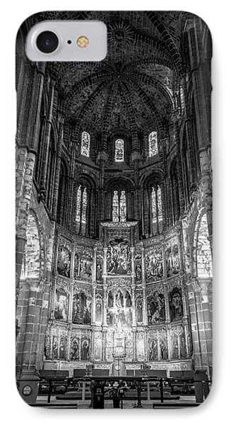 Avila Cathedral Bw IPhone Case