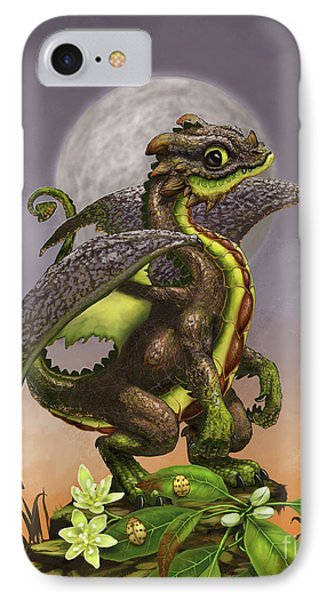 IPhone Case featuring the digital art Avocado Dragon by Stanley Morrison