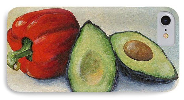 Avocado With Bell Pepper IPhone Case by Torrie Smiley