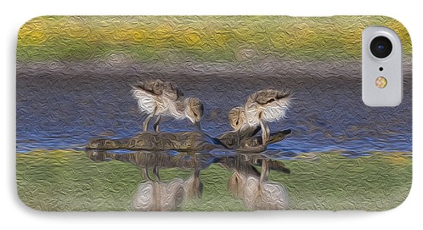 Avocet Babies IPhone Case