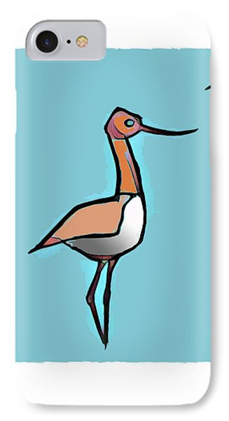 Avocet Composition 3 Phone Case by Art MacKay