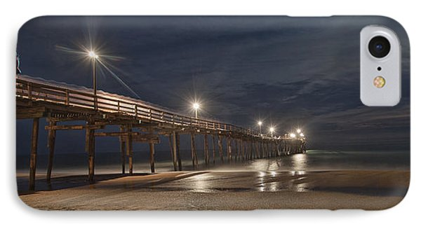 Avon Pier At Night IPhone Case by Laurinda Bowling
