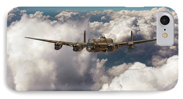 IPhone 7 Case featuring the photograph Avro Lancaster Above Clouds by Gary Eason