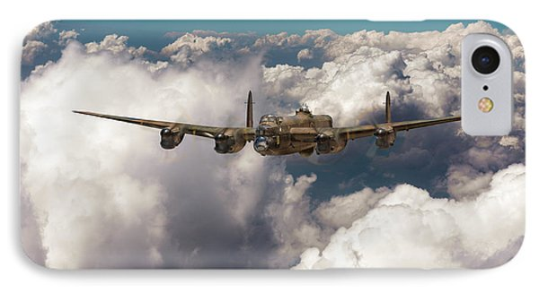 IPhone Case featuring the photograph Avro Lancaster Above Clouds by Gary Eason