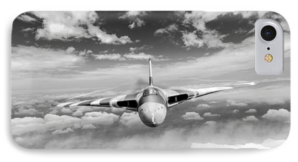 IPhone 7 Case featuring the digital art Avro Vulcan Head On Above Clouds by Gary Eason