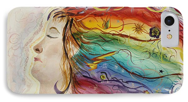IPhone Case featuring the painting Awakening Consciousness by Donna Walsh