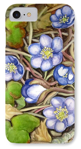 IPhone Case featuring the painting Awakening Of The Wild Anemone  by Inese Poga