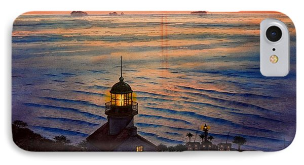 Awesome Sunset At Pt. Loma Lighthouse IPhone Case