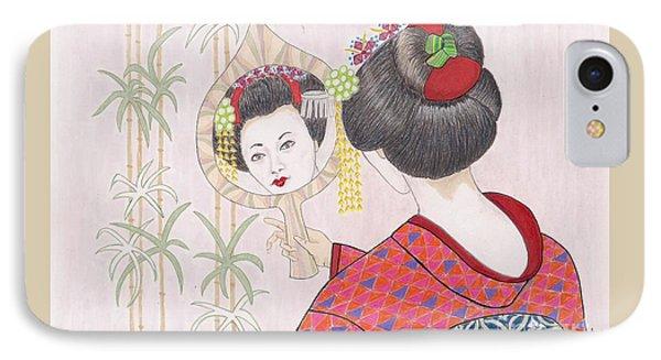 Ayano -- Portrait Of Japanese Geisha Girl IPhone Case