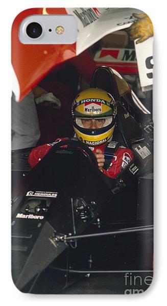 Ayrton Senna. 1990 Italian Grand Prix IPhone Case