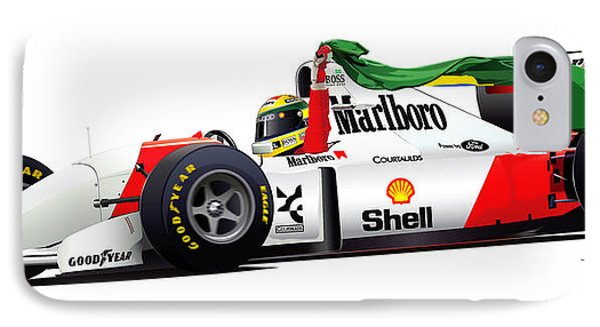 Ayrton Senna Illustration IPhone Case