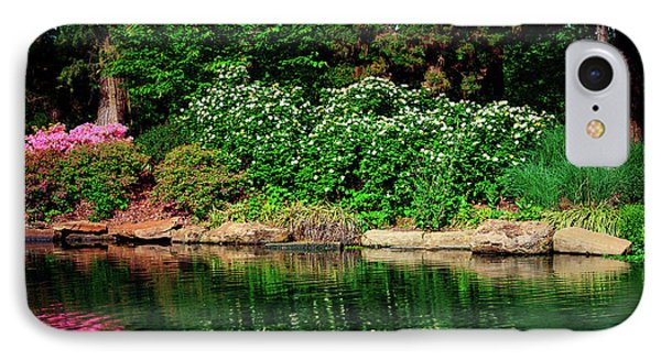 Azalea Reflection At Honor Heights Park IPhone Case by Tamyra Ayles