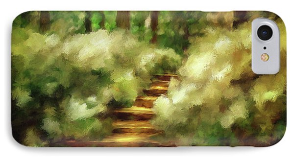 Azalea Stairs IPhone Case by Lois Bryan
