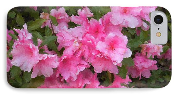 Azalea Watercolor  Phone Case by Fred Jinkins