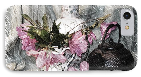 Azaleas And Teapot IPhone Case