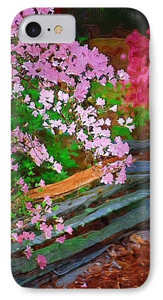 IPhone Case featuring the photograph Azaleas Over The Fence by Donna Bentley