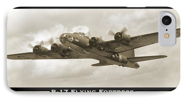 B-17 Flying Fortress Show Print IPhone Case