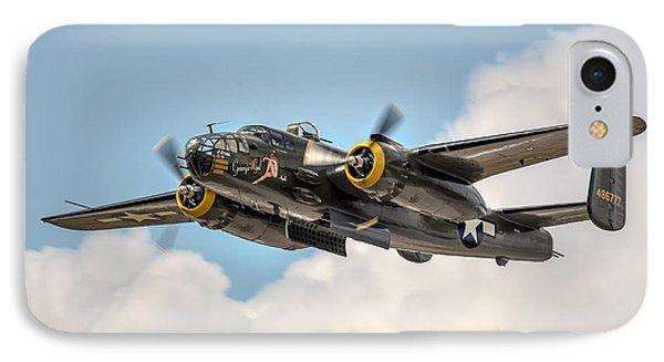 B-25 Georgie's Gal Phone Case by Bill Lindsay