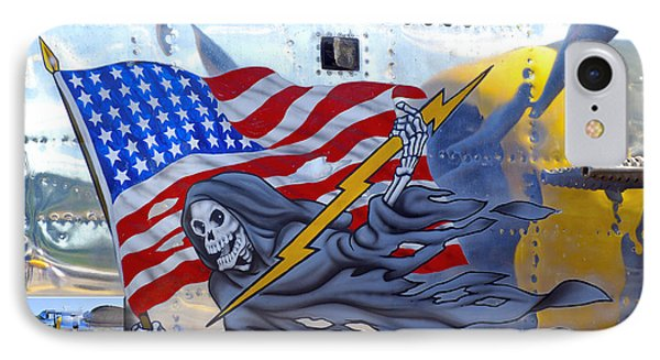 B-25 Pacific Prowler Nose Art IPhone Case