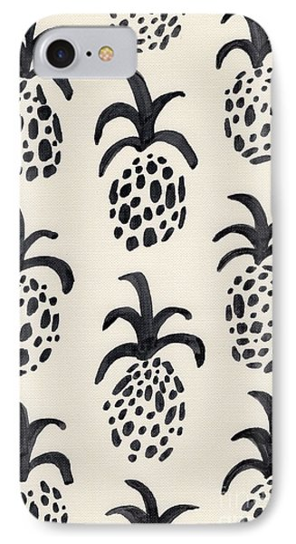 B And W Pineapple Print IPhone 7 Case by Anne Seay