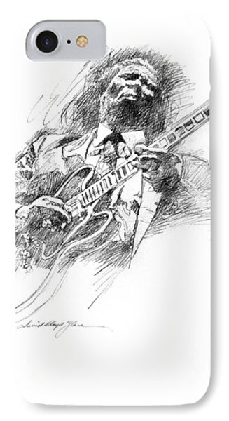 B B King And Lucille Phone Case by David Lloyd Glover