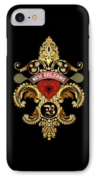 B-fleur-de-lis New Orleans Transparent Back Pick Color IPhone Case