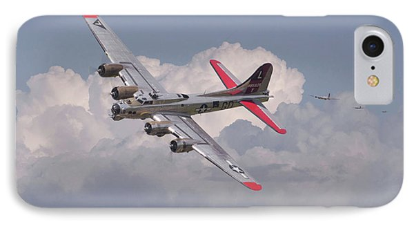 IPhone Case featuring the photograph B17 - The Last Lap by Pat Speirs