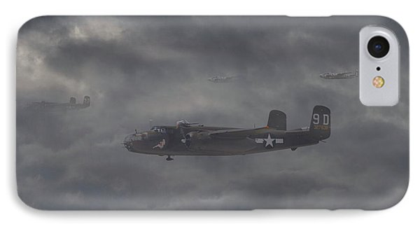 IPhone Case featuring the digital art B25 - 12th Usaaf by Pat Speirs