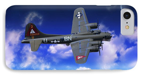 B17 Flying Fortress IPhone Case by Nichola Denny
